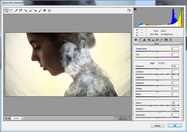 create that final softened look of the original effect