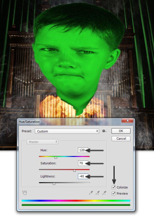 Add the emerald color