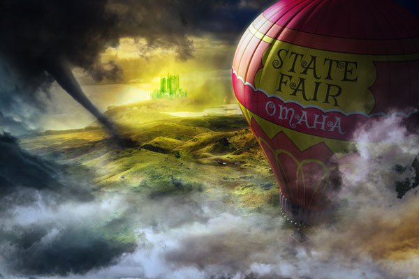 Final product image of Wizard of Oz hot air balloon