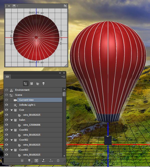 Import the 3D balloon model