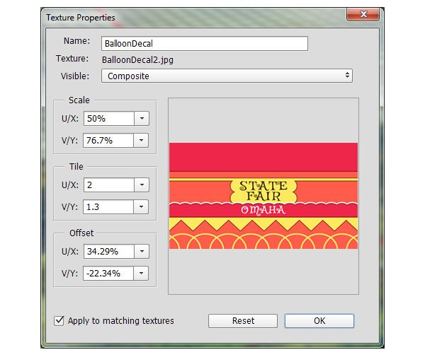 Edit the UV properties