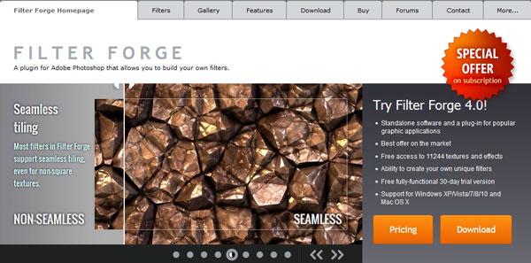 Filter Forge website