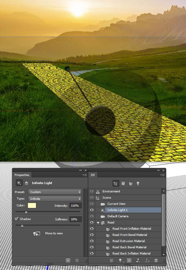 Adjust the 3D lighting