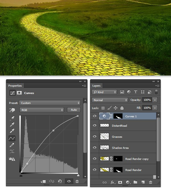 add Curves to the roadway