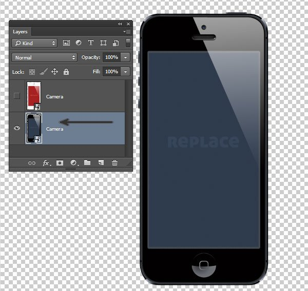 Open the smart object for the device image