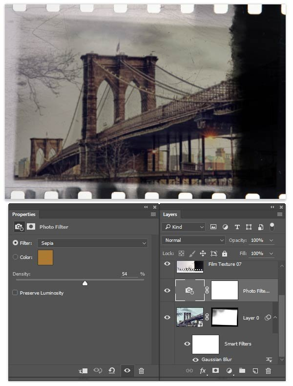 Add a Photo Filter for a sepia tone