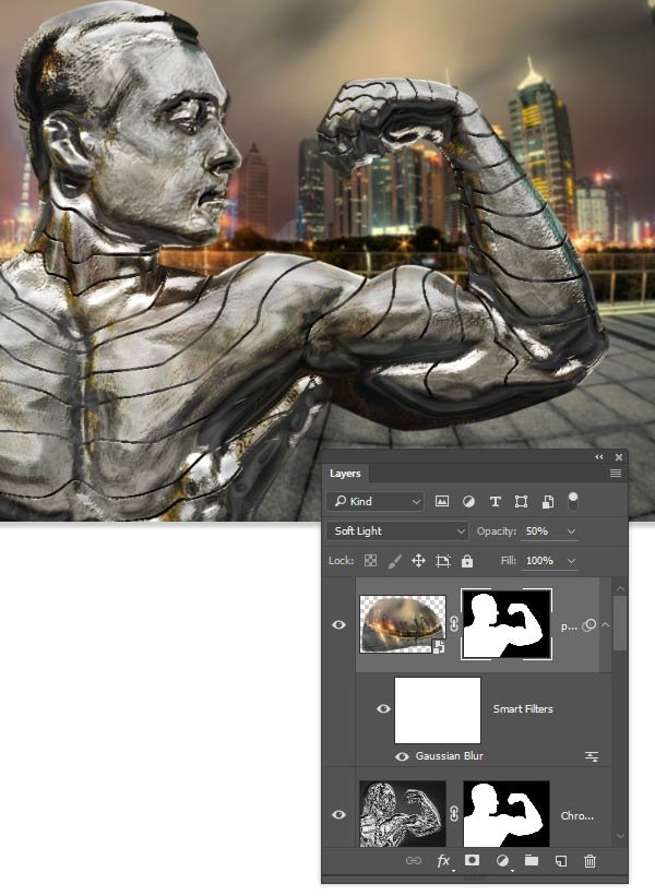 copy the layer mask to the new reflections layer