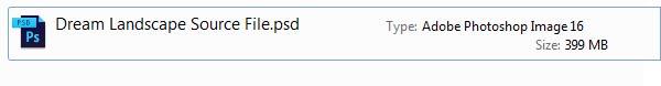 Huge 399 MB file