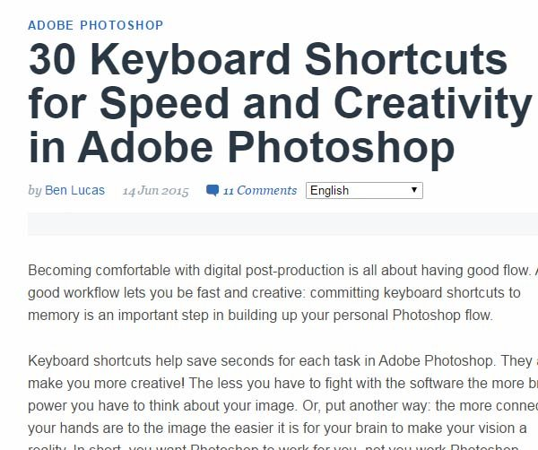30 Keyboard Shortcuts for Speed and Creativity in Adobe Photoshop