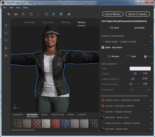 Texture customization