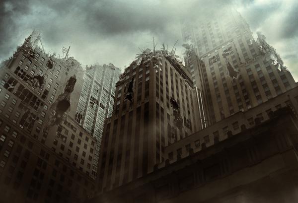 Create a City Destruction Scene Photo Manipulation in Adobe Photoshop