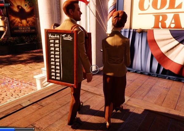 Bioshock Infinite heads and tails