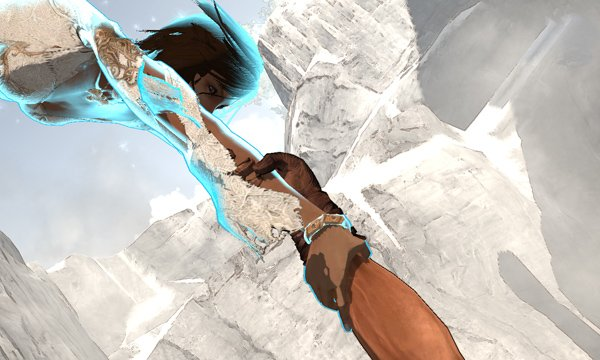 Prince of Persia being saved by Elika
