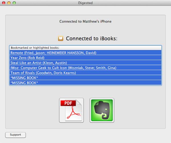 Copy iBooks annotations