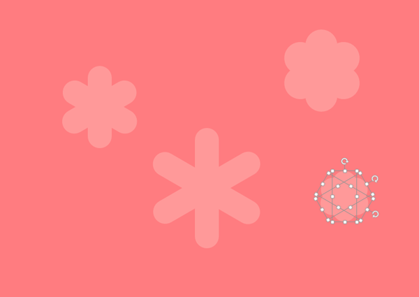 Duplicating and tweaking the shape of the background flowers
