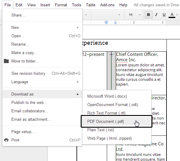 Checking the appearance of the exported pdf file