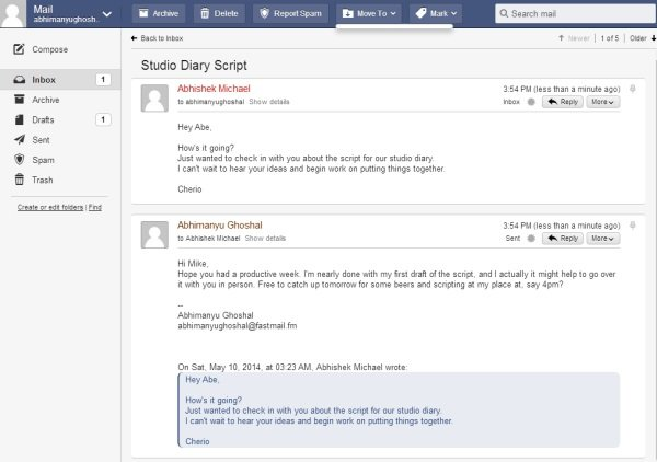 fastmail conversation view