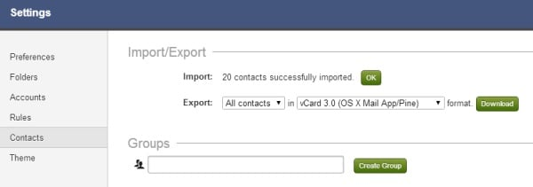 import contacts into fastmail