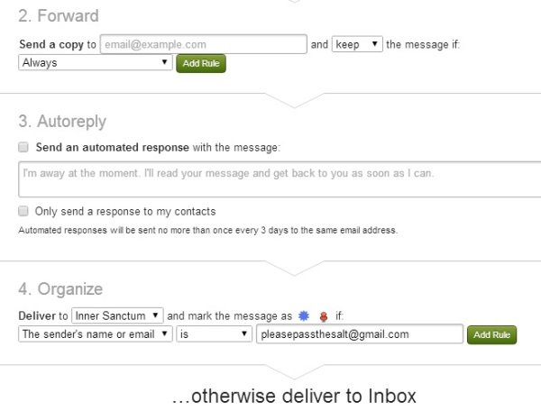 Fastmail mail rules