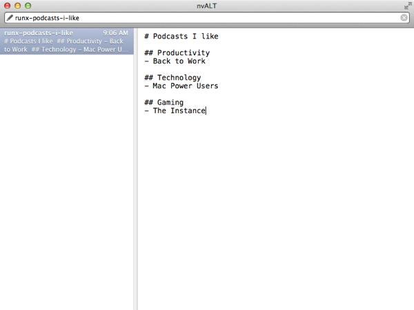 nvALT writing in markdown