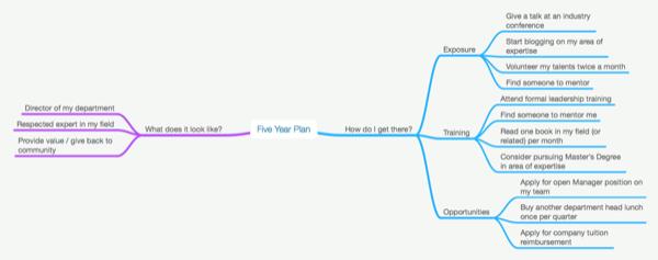 Five year plan mind map
