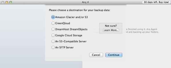 Arq Backup Setup S3