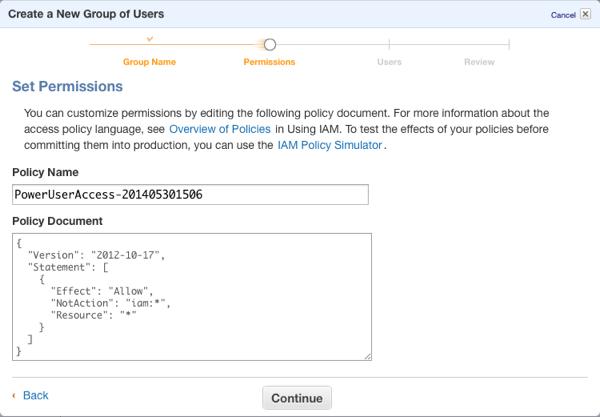 Amazon Web Services IAM Group Permissions