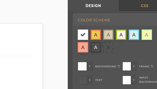 first color scheme