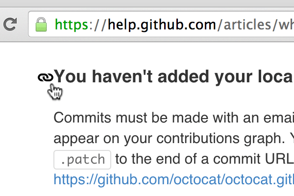 The help documentation on GitHub is another place youll find dynamic section links