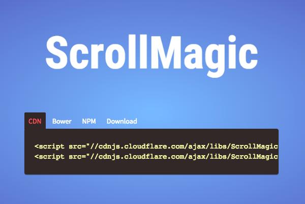 ScrollMagic Homepage