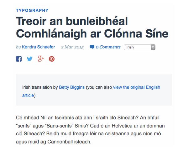 Live Irish translation