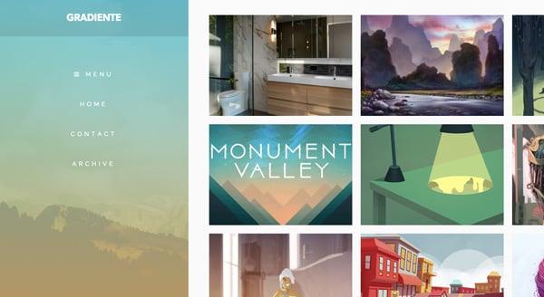 gradiente - tumblr theme