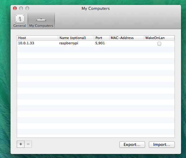Configuring the VNC viewer