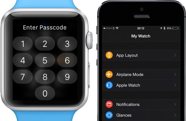 Open the Apple Watch app on iPhone instead of entering the Passcode on the Apple Watch