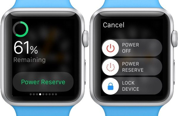 Save battery power by switching to Power Reserve mode
