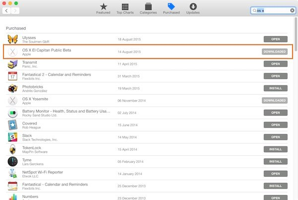 Find the El Capitan download under the Purchased tab in the Mac App Store