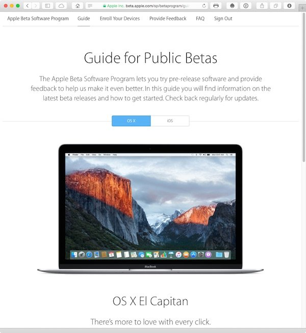 Its now easy for anyone with an Apple ID to take part in Apples public betas