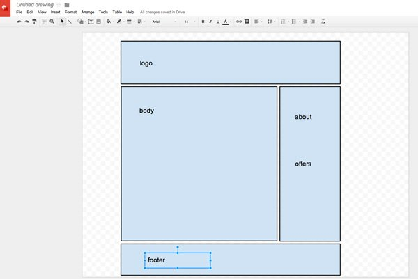 text boxes for mail merged email in Google Draw