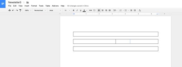 add columns in google docs