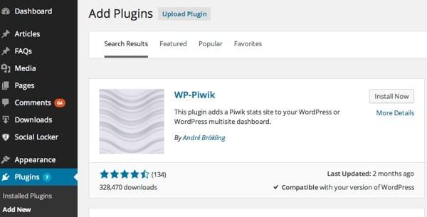 WP-Piwik Plugin for WordPress