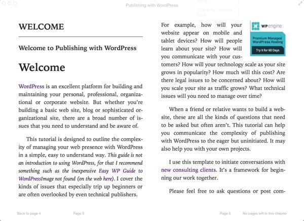 Publishing with WordPress as an ePub