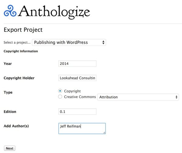 Export your project
