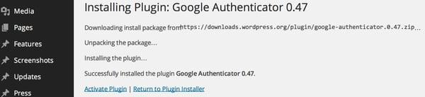 Activate the plugin