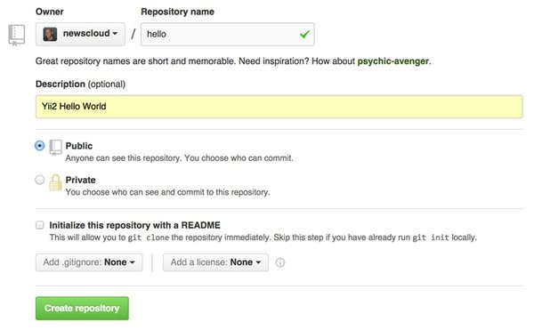 Create a New Repository at Github