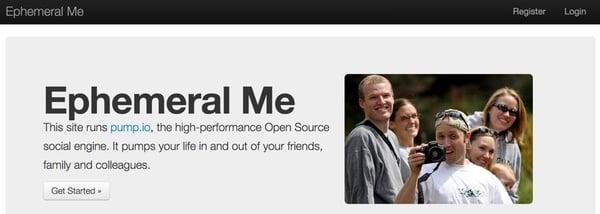 Ephemeral me home page