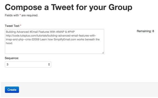 Compose a status tweet for a tweet storm