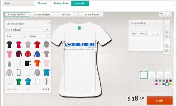 Create more Products at Spreadshirt