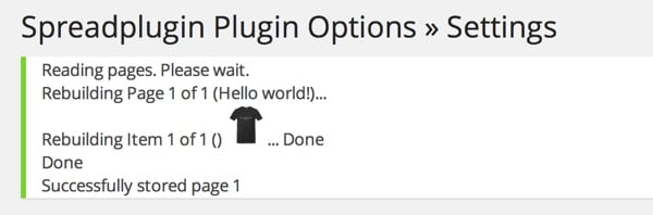 Rebuild the Cache for the Spreadshirt Plugin