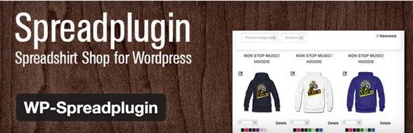 Spreadplugin the Spreadshirt plugin for WordPress