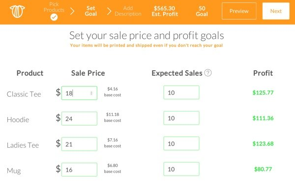 Teechip Pricing